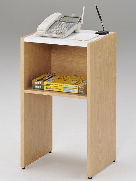 画像1: 木製電話台 (1)